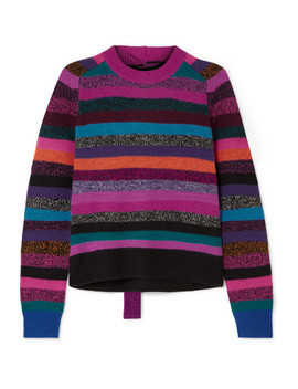 Tie Back Striped Cashmere Sweater by Marc Jacobs