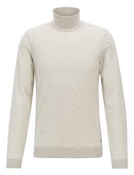 Boss Men's Virgin Wool Turtleneck Sweater by Hugo Boss