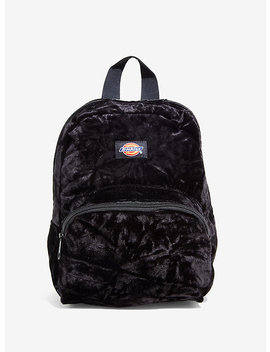 Dickies Black Crushed Velvet Mini Backpack by Hot Topic