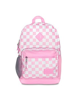 "Dickies 17.5"" Study Hall Backpack   Pink/White Checkerboard by Dickies"