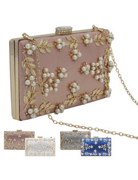 Luxury Women Rhinstones Crystal Pearl Evening Wedding Party Handbag Shoulder Bag by Unbranded