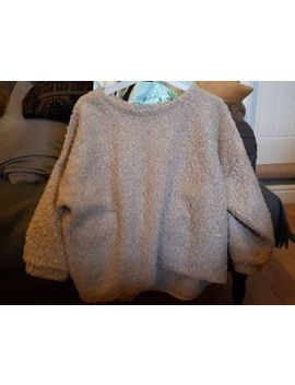 Topshop Ladies Jumper Size 16, Winter, Oversized Short Jumper, Beige, Teddy Bear by Ebay Seller