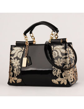 Women Luxury Handbags Female Leather Evening Bag Embroidered Shoulder Bags by Nevenka