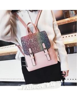 Women Shoulder Bag Luxury Bling Backpack Travel Leisure Bags School Rucksack by Unbranded