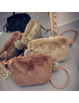 Women Shoulder Bag Luxury Faux Fur Handbag Ladies Messenger Cross Body New Bags by Unbranded