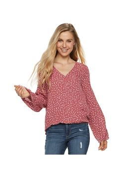 Juniors' Grayson Threads Wrap Front Woven Top by Kohl's