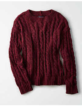 Ae Impossibly Soft Cable Knit Sweater by American Eagle Outfitters