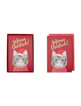 Holiday Cards Meowy Christmas Cat by Alliteration