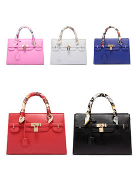 Luxury Women Bags Designer Handbag With Scarf Lock Shoulder Messenger Bags by Vintage Embroidery