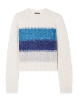 Holland Cropped Striped Knitted Sweater by Rag & Bone