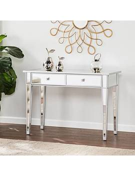 Mirage Mirrored 2 Drawer Console Table by Lamps Plus