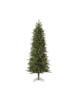 Vickerman 7.5 Ft Pre Lit Slim  Artificial Christmas Tree With 450 Constant White Clear Incandescent Lights by Lowe's