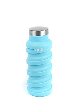 Que Bottle | Designed For Travel And Outdoor. Collapsible Water Bottle   Food Grade Silicone/Bpa Free/Lightweight / Eco Friendly   12oz by Que Factory