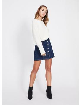 Cream Batwing Knitted Jumper by Miss Selfridge