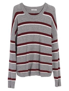 Westlake Striped Pullover Sweater In Coziest Yarn by Madewell