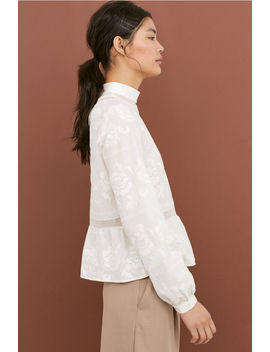 Cotton Blouse With Lace Detail by H&M