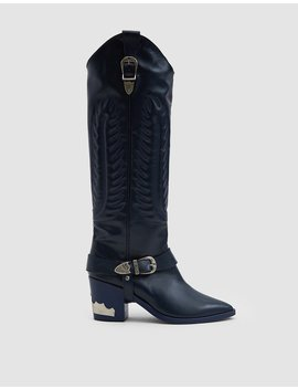 Western Boot In Blue Grey by Toga Pulla