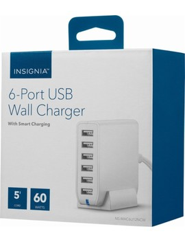 6 Port Usb Wall Charger   White by Insignia™