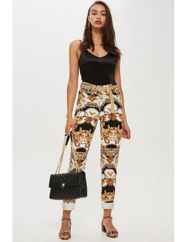 Petite Chain Print Mom Jeans by Topshop