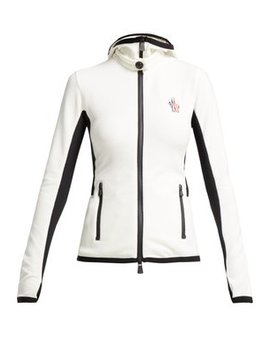 Logo Embroidered Hooded Fleece Jacket by Moncler Grenoble