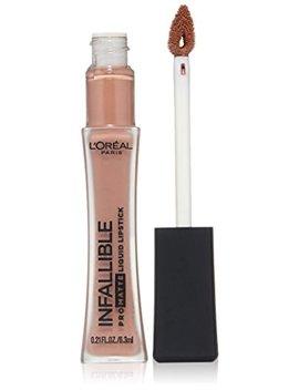 L'oreal Paris Makeup Infallible Pro Matte High Pigment, Long Wear Liquid Lipstick, 354 Nudist, 0.21 Fl. Oz. by L'oreal Paris