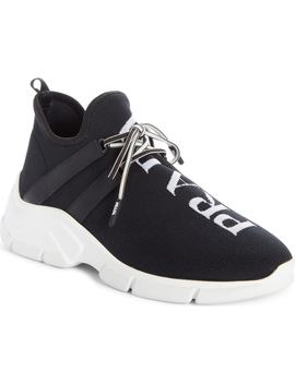 Knit Sock Sneaker by Prada