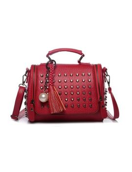 Lovely Women Fashion Handbag Luxury Bag High Quality Retro Shoulder Rivet New S by Lovely Women China