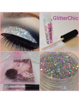 Fine Holographic Silver Glitter Eyes, Eyeshadow Large 10g Pot Fix Gel Applicator by Ebay Seller