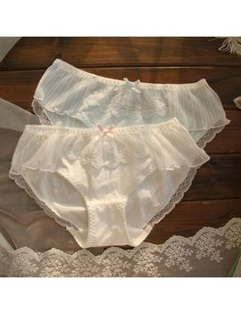 Loverly   Lace Trim Cotton Panties by Loverly