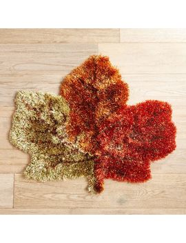 Maple Leaf Shag Rug by Grateful Harvest Collection