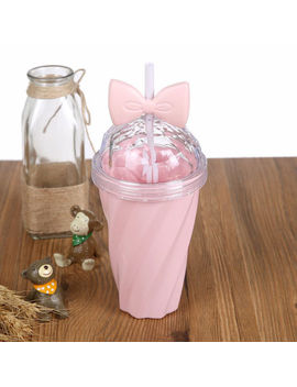 400 Ml Lovely Straw Cup Cold Drink Cup Plastic With Bownot Lid Straw Uk Stock Hot by Ebay Seller