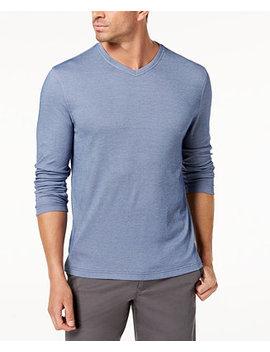 Men's Supima Blend Knit V Neck T Shirt, Created For Macy's by Tasso Elba