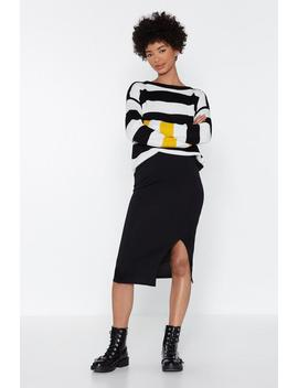 Slit With Us Midi Skirt by Nasty Gal