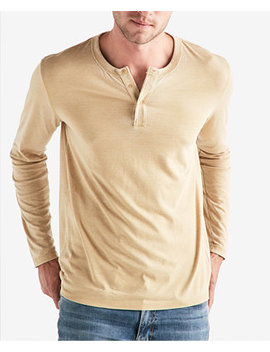Men's Long Sleeve Burnout Henley by Lucky Brand