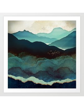 Indigo Mountains Art Print by
