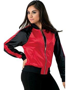 Balera Jacket Girls Bomber For Dance Long Sleeve Satin Zip Up Athletic Coat by Balera