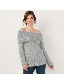 Women's Lc Lauren Conrad Off The Shoulder Sweater by Kohl's