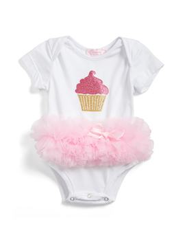 Cupcake Tutu Skirted Bodysuit by Popatu
