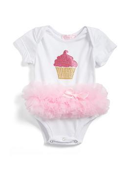 Cupcake Tutu Skirted Bodysuit by Popatu