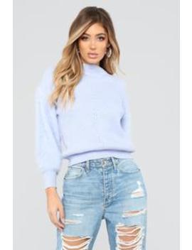 Monique Faux Fur Sweater   Pale Lavender by Fashion Nova