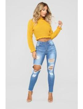 Watcha Doin' Skinny Jeans   Medium Blue Wash by Fashion Nova