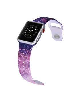 Lax Apple Watch 38mm Sport Ultra Soft Silicone Band   Galaxy   For Apple Watch Series 3, 2, 1, Sport by Lax Gadgets