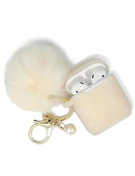 Airpods Case   Filoto Airpods Silicone Cute Glittery Case Cover With Keychain/Strap For Apple Airpod (Gold) by Filoto