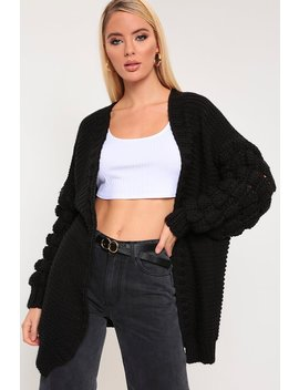 Black Bubble Sleeve Cardigan by I Saw It First