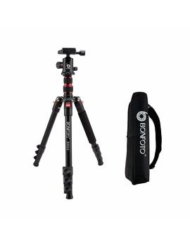 "Bonfoto B690 A Lightweight Aluminum Alloy Camera Travel Portable Tripod With 360 Degree Ball Head,1/4"" Quick Release Plate And Carry Bag For Canon Nikon Sony Dslr by Bonfoto"