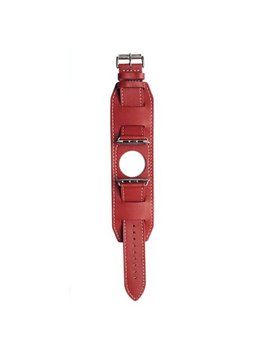 Leather Band For 38 Mm Apple Watch   Red by Mgear