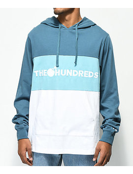The Hundreds Deck Blue & White Colorblock Hoodie by The Hundreds