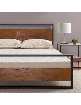 Zinus Ironline Metal And Wood Platform Bed With Headboard And Footboard / Box Spring Optional / Wood Slat Support, Full by Zinus