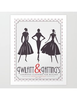 Twilfitt And Tatting's Art Print by