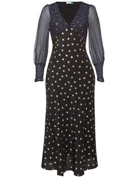Erin Printed Silk Midi Dress by Rixo London